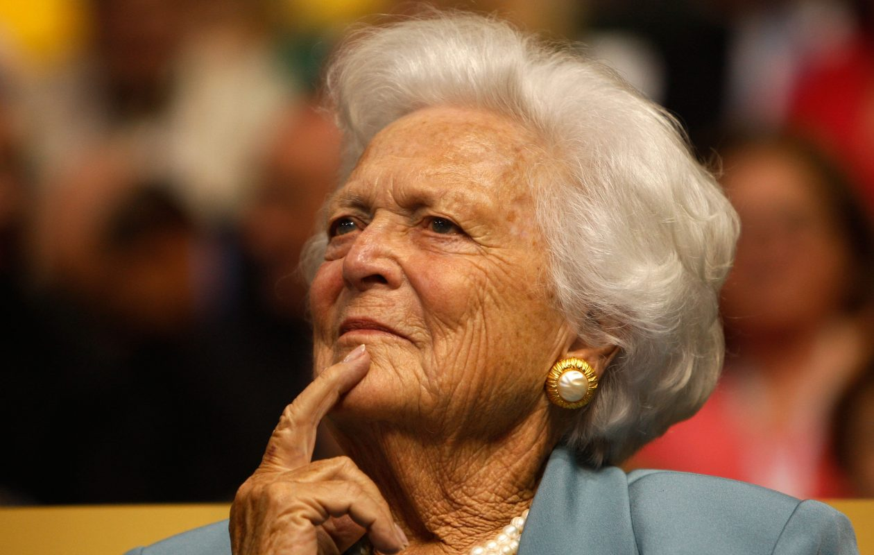 Former first lady Barbara Bush at the Republican National Convention in 2008.  (Getty Images)