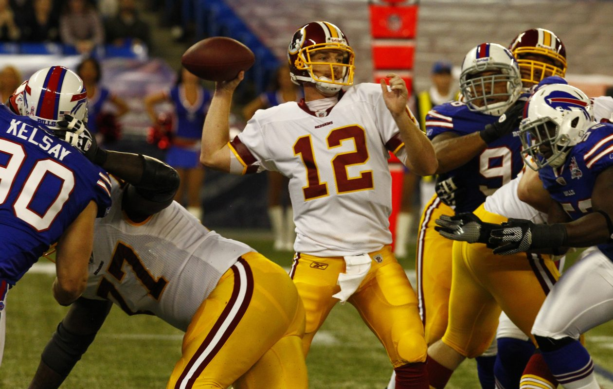 John Beck started against the Bills in 2011. Now he's a tutor of elite NFL QBs and top prospects entering the NFL Draft. (John Hickey/Buffalo New file photo)