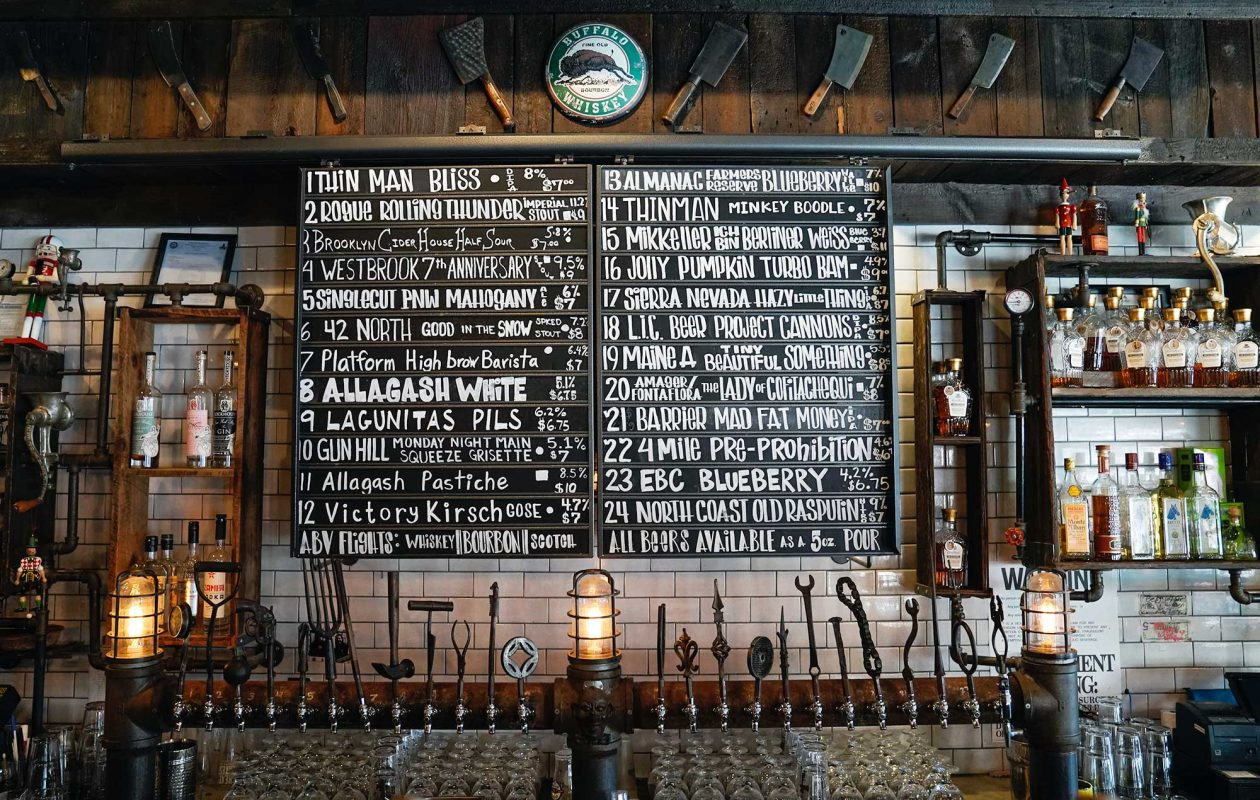 The beer list at Allen Burger Venture. (Dave Jarosz)