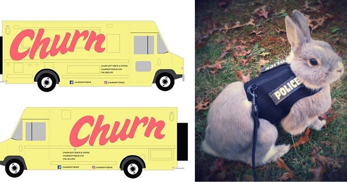 On April Fools Day, Lloyd Taco duped fans of its sister ice cream shop, Churn, while the Depew Police Department promoted a furry creature. (via Lloyd, Depew Police)
