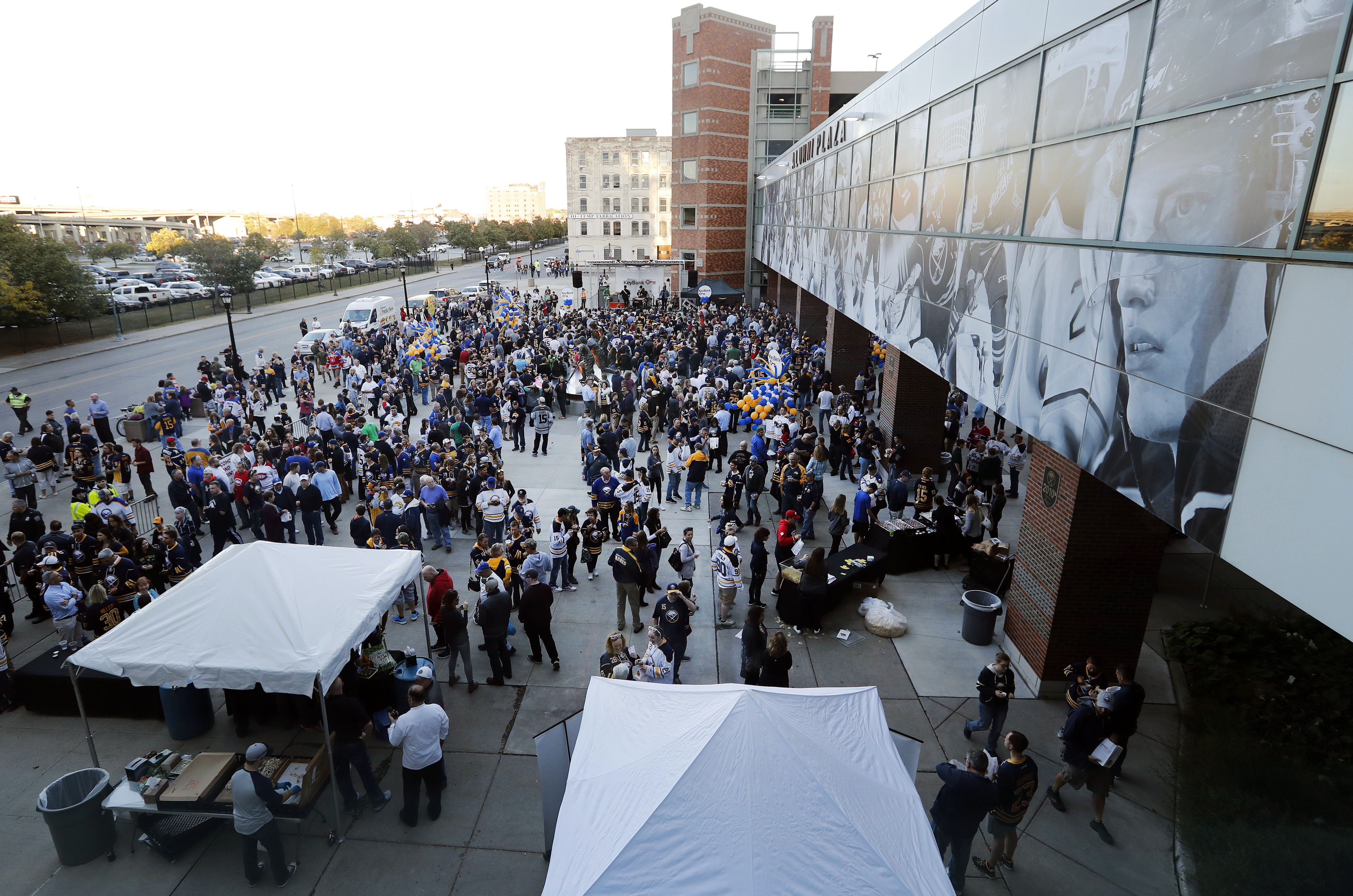 The plaza outside KeyBank Center could be an area that is used more often  (Mark Mulville/Buffalo News)