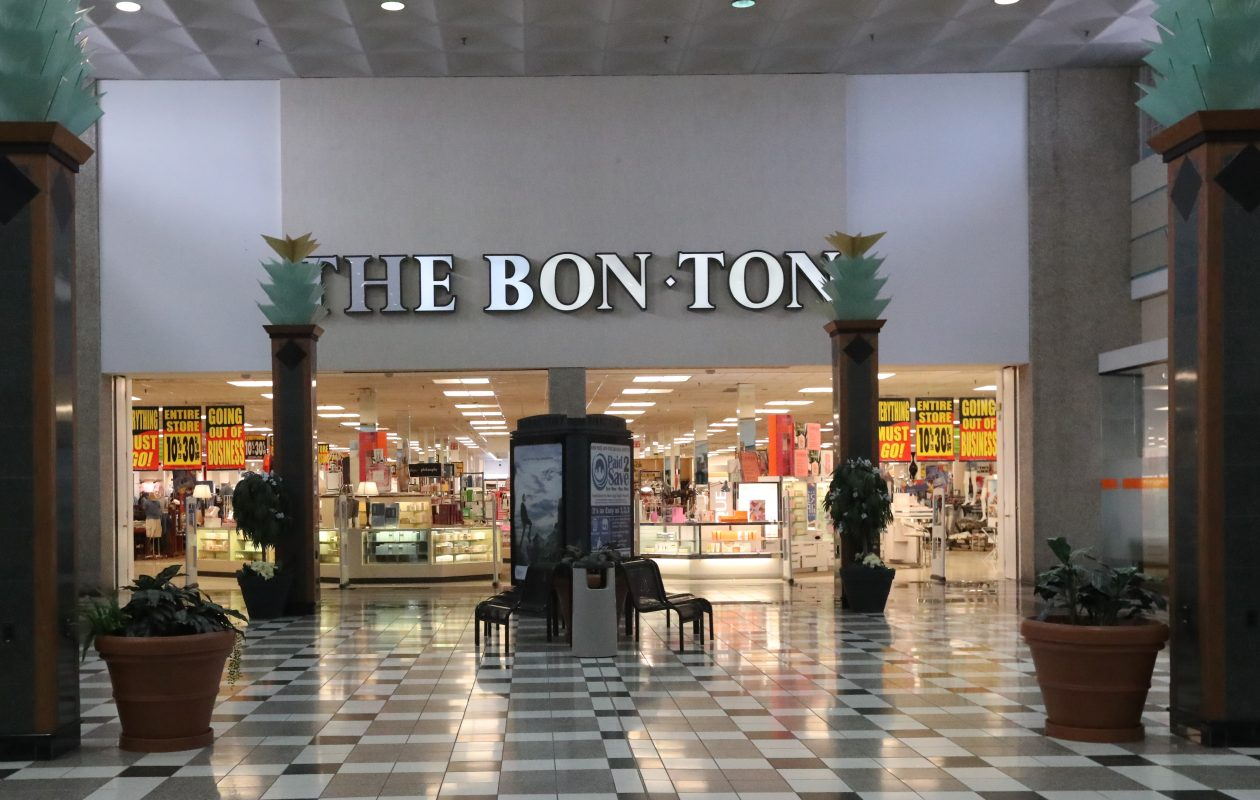 Bon-Ton stores in the area have started their going-out-of-business sales, including this one at Eastern Hills Mall in Clarence.  (James P. McCoy/Buffalo News)