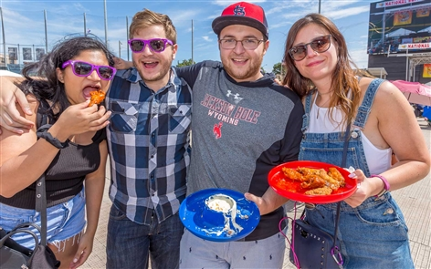 Smiles at the National Buffalo Wing Festival
