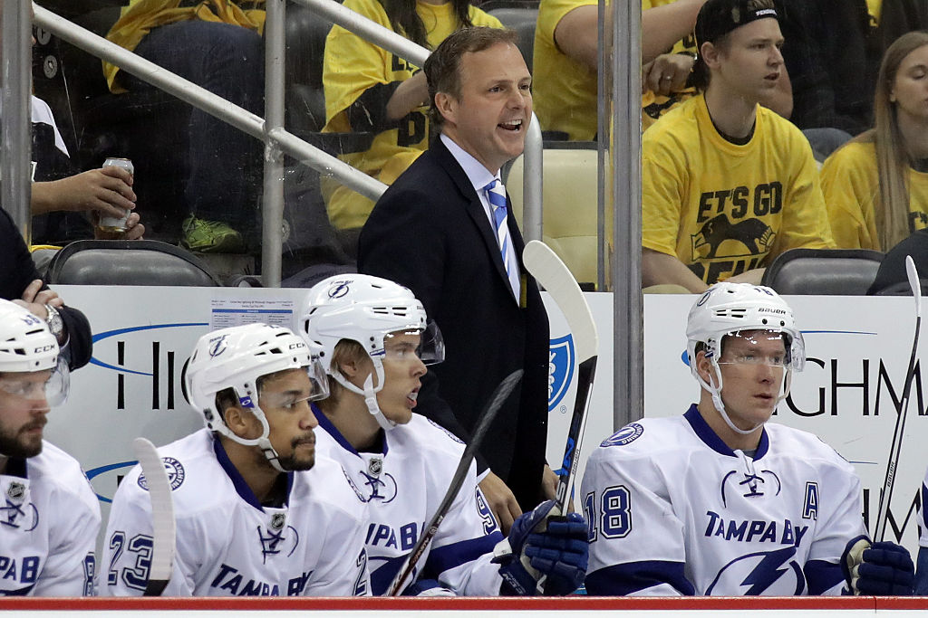 Tampa Bay coach Jon Cooper is trying to lead the Bolts to their first division title since 2004 (Getty Images).