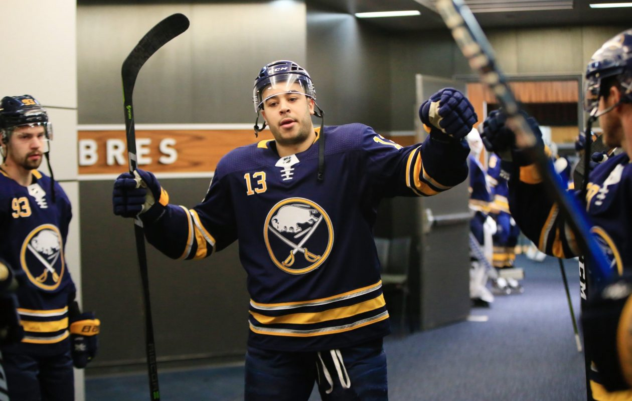 Nick Baptiste is among the former Sabres who are back in Rochester. (Harry Scull J./Buffalo News)