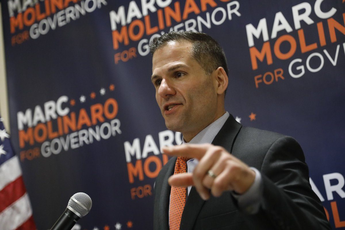 New York GOP gubernatorial candidate Marc Molinaro speaks to supporters at the Erie County GOP headquarters in Buffalo. (Derek Gee/Buffalo News)