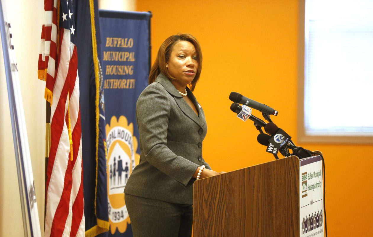 Dawn E. Sanders-Garrett, former executive director of Buffalo Municipal Housing Authority, in a file photo from Nov. 16, 2015. (File photo/Robert Kirkham/Buffalo News)