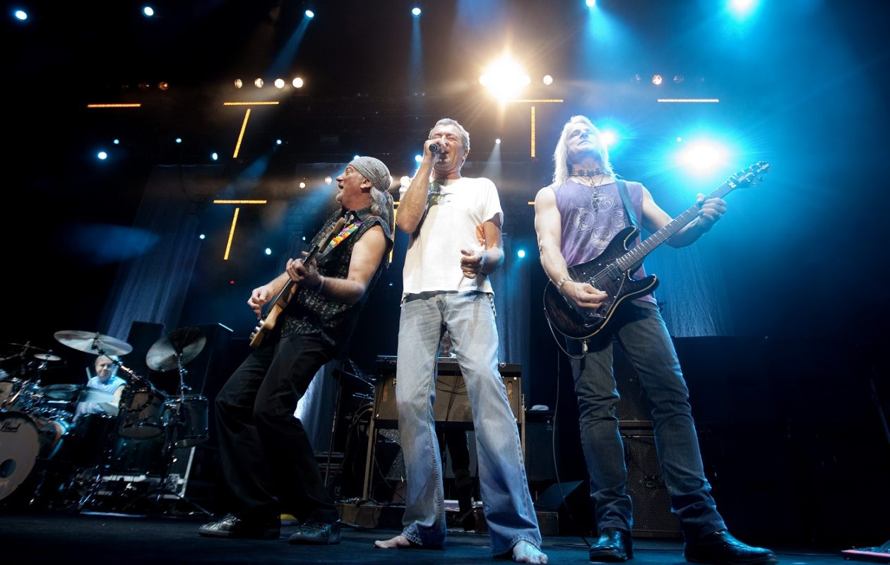 (L-R) Roger Glover, Ian Gillan and Steve Morse of Deep Purple. The band will team with Judas Priest for a late-summer Buffalo gig. (Lien, Kyrre/AFP/Getty Images)