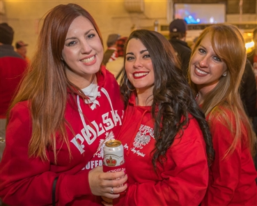 Smiles at Dyngus Day in the Central Terminal