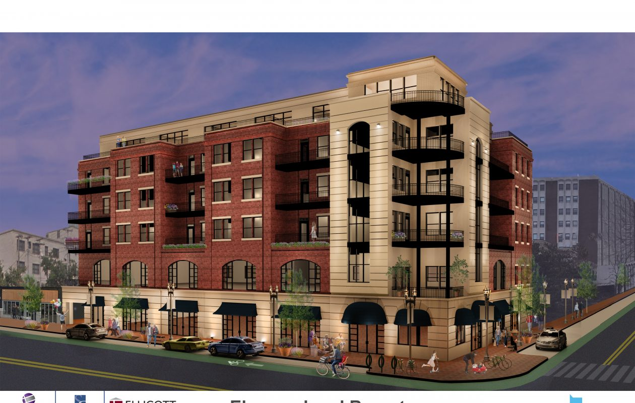 Nick Sinatra and William Paladino are seeking approval for this six-story building at Elmwood Avenue and Bryant Street as part of the Elmwood Crossing project.