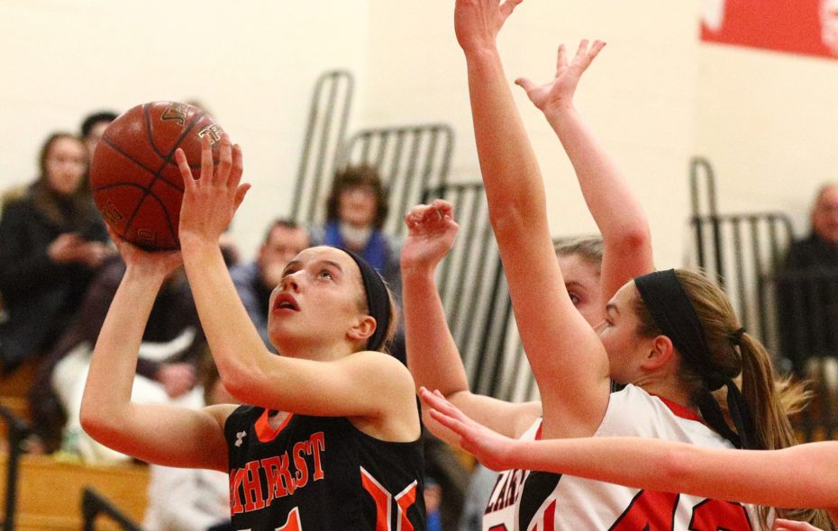Amherst's Emma Klein helped lead the Tigers to their second-straight  Section VI Class A-2 title. (James P. McCoy/Buffalo News)