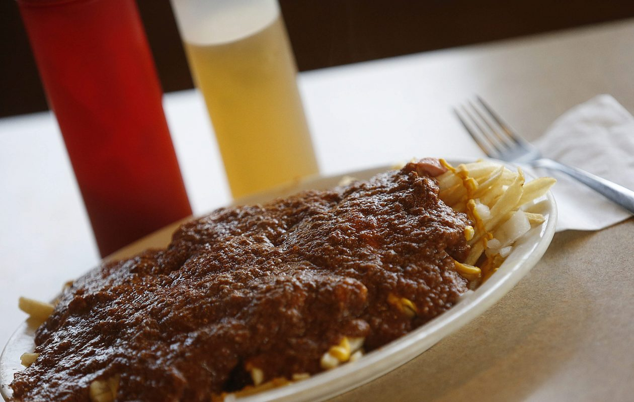 Prairie Platter at Zorba's Texas Hots on Transit Road on  Thursday, May 22, 2014. This is the restaurant's version of a garbage plate. (Robert Kirkham/Buffalo News)