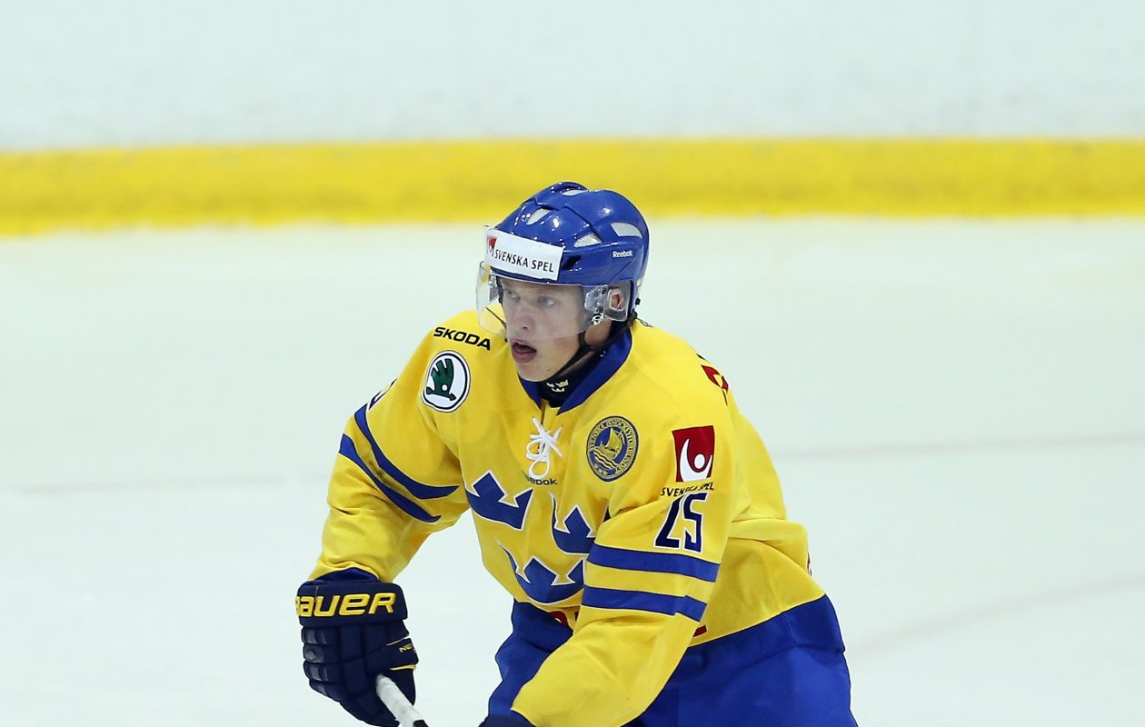 Lawrence Pilut led defensemen in the Swedish league in points. (Getty Images)