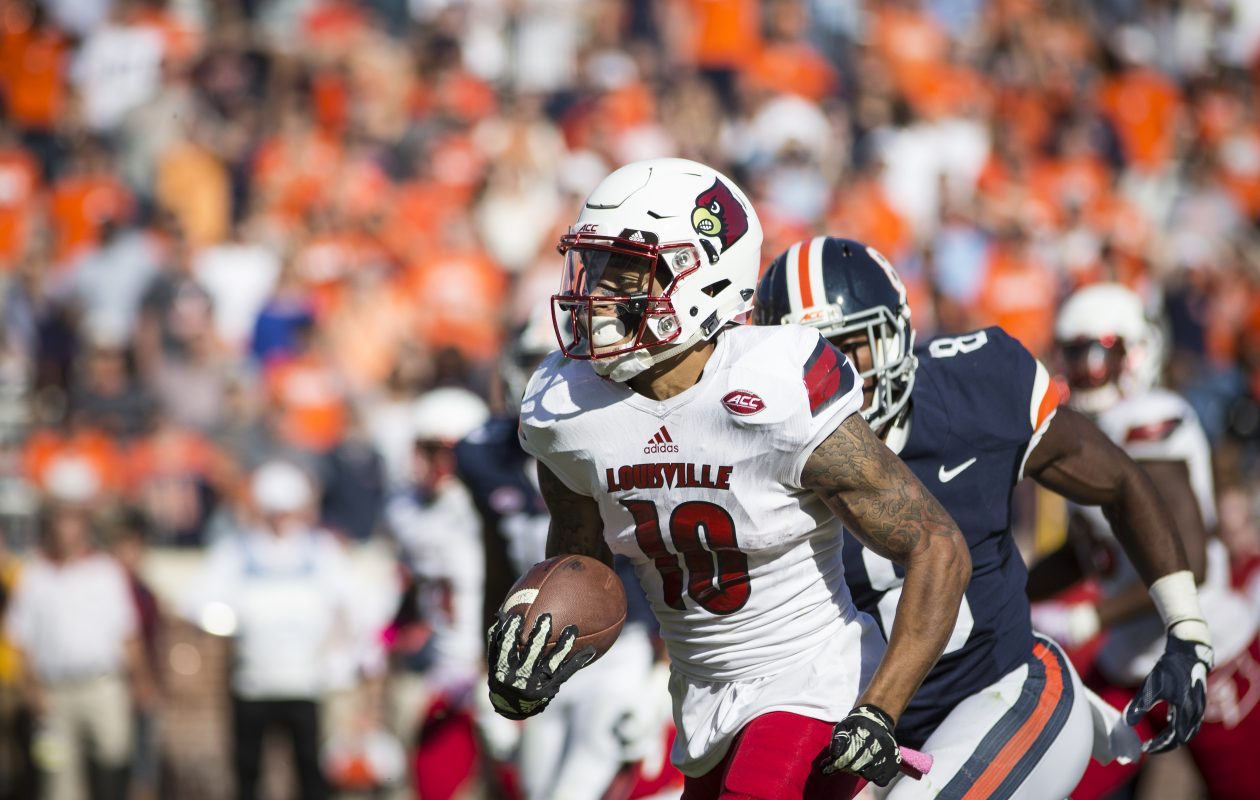 Louisville cornerback Jaire Alexander was limited to seven games in 2017 because of injuries. (Getty Images)
