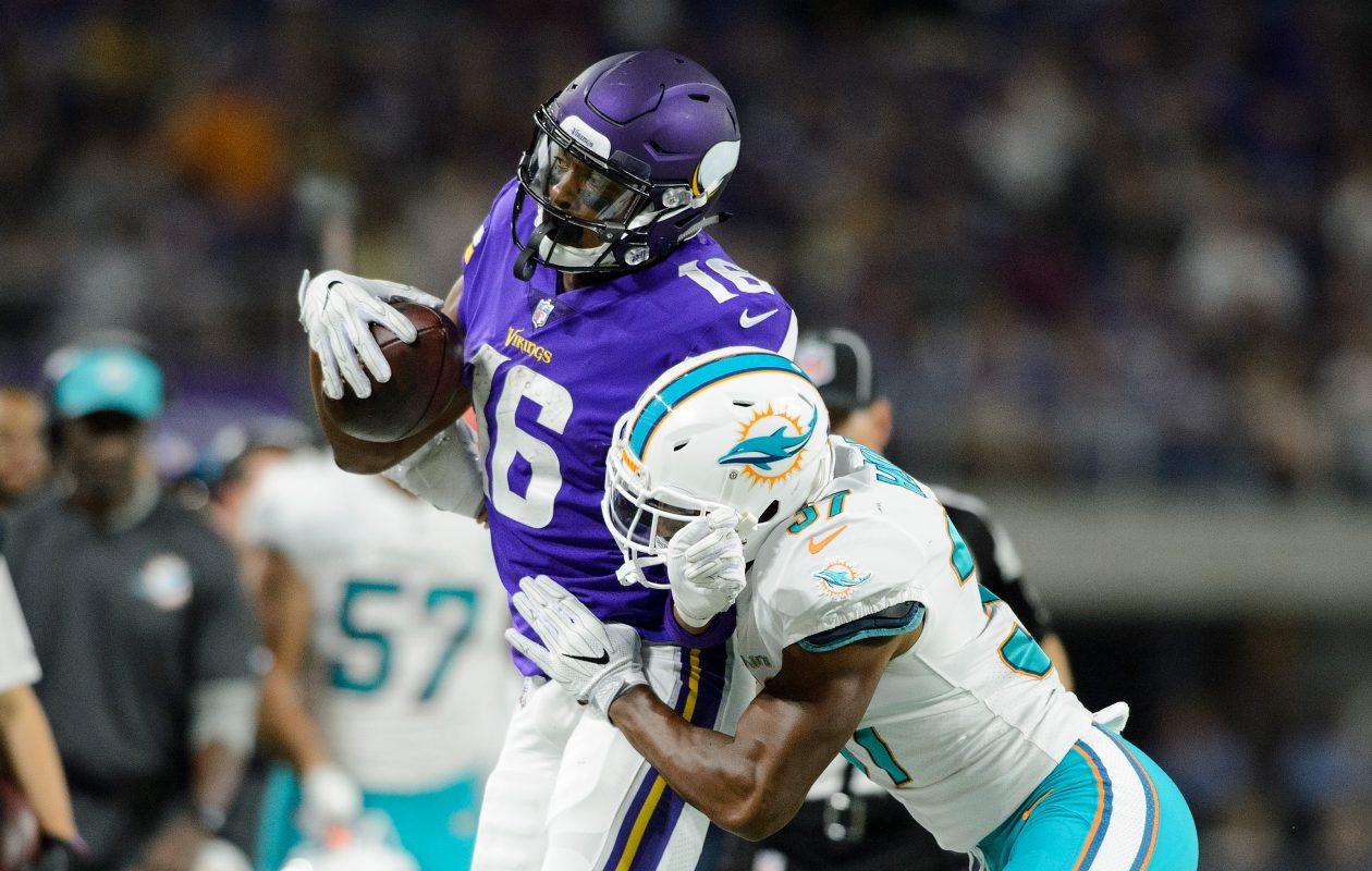 Vikings receiver Cayleb Jones (Hannah Foslien/Getty Images)