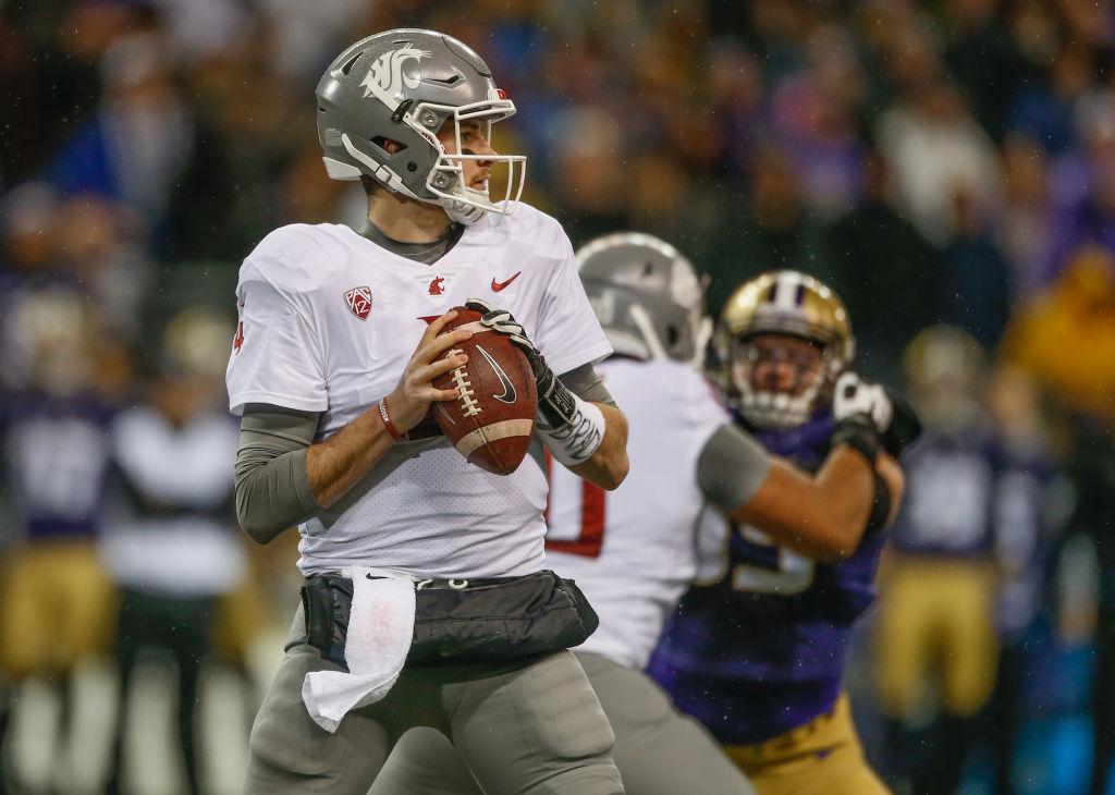 Washington State quarterback Luke Falk. (Getty Images)