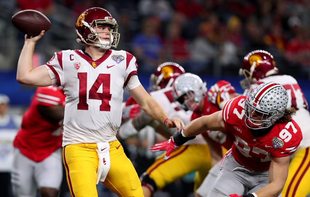 University of Southern California's Sam Darnold has widely been projected as a top-five pick in the upcoming NFL Draft. (Getty Images)