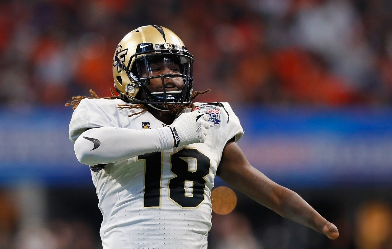 Central Florida linebacker Shaquem Griffin has one of the most inspirational stories of the 2018 NFL Draft. (Getty Images)