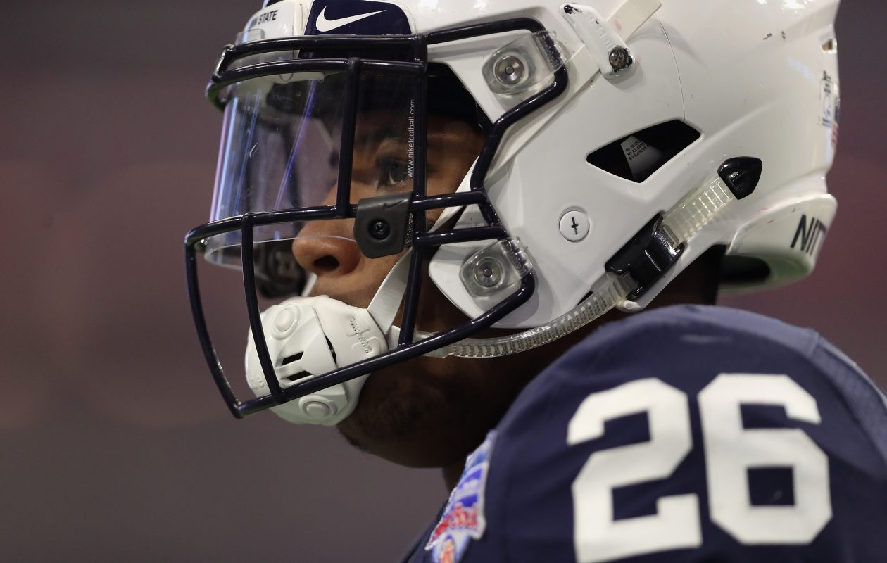 Running back Saquon Barkley offers an impressive combination of speed, athleticism, power, vision and instincts, Vic Carucci says. (Getty Images)