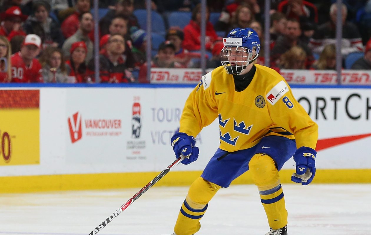 Unquestioned top prospect Rasmus Dahlin has already played in Buffalo, representing Sweden during World Juniors. (Getty Images)