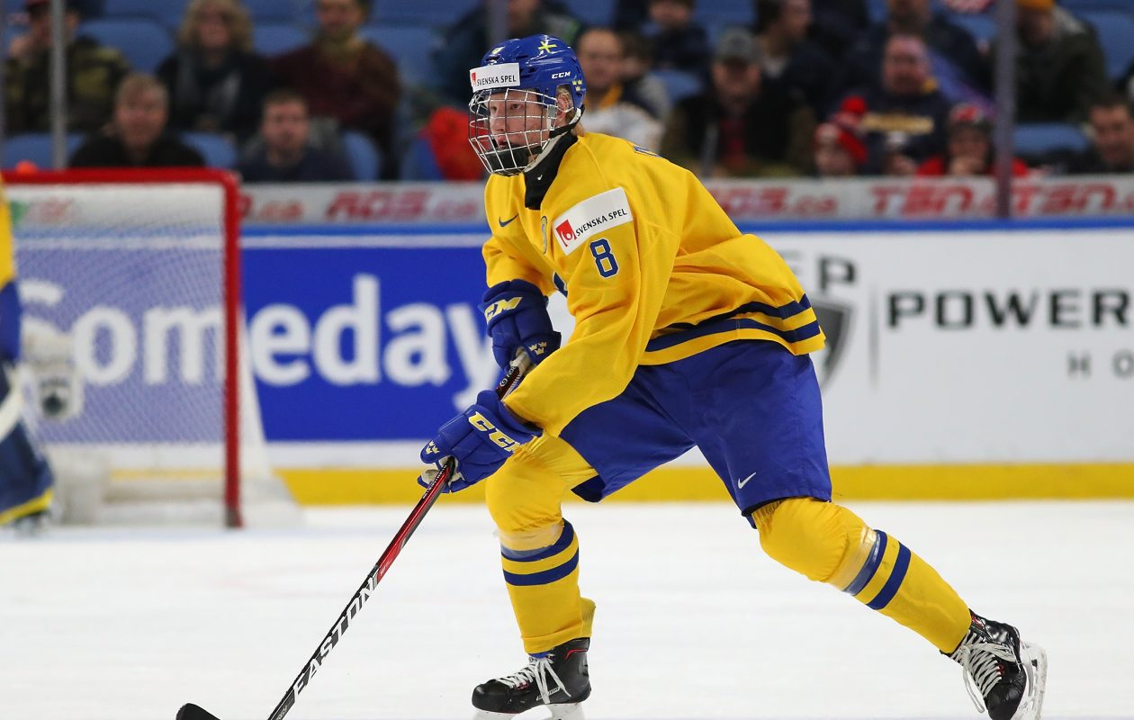 Top prospect Rasmus Dahlin represented Sweden at the World Junior Championship in Buffalo this year. (Getty Images)