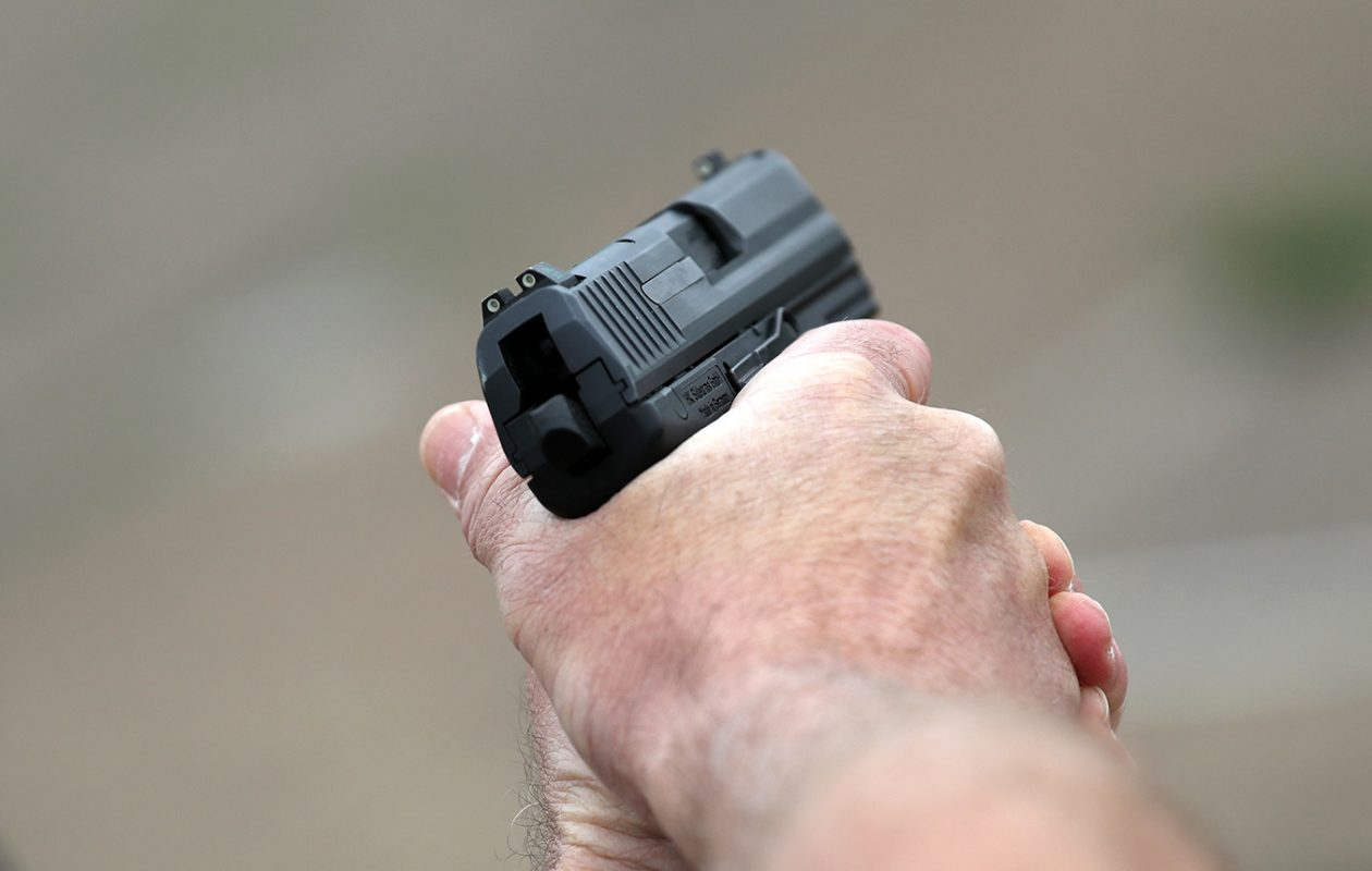The National Institute of Mental Health reports that slightly more than half of the people who kill themselves do so using a gun. (John Moore/Getty Images file photo)