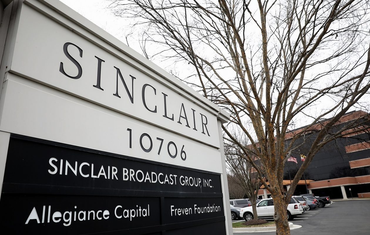 Sinclair Broadcasting owns about 200 stations nationally and stands to own more by buying Tribune Media stations in a $3.9 billion deal. (Win McNamee/Getty Images)