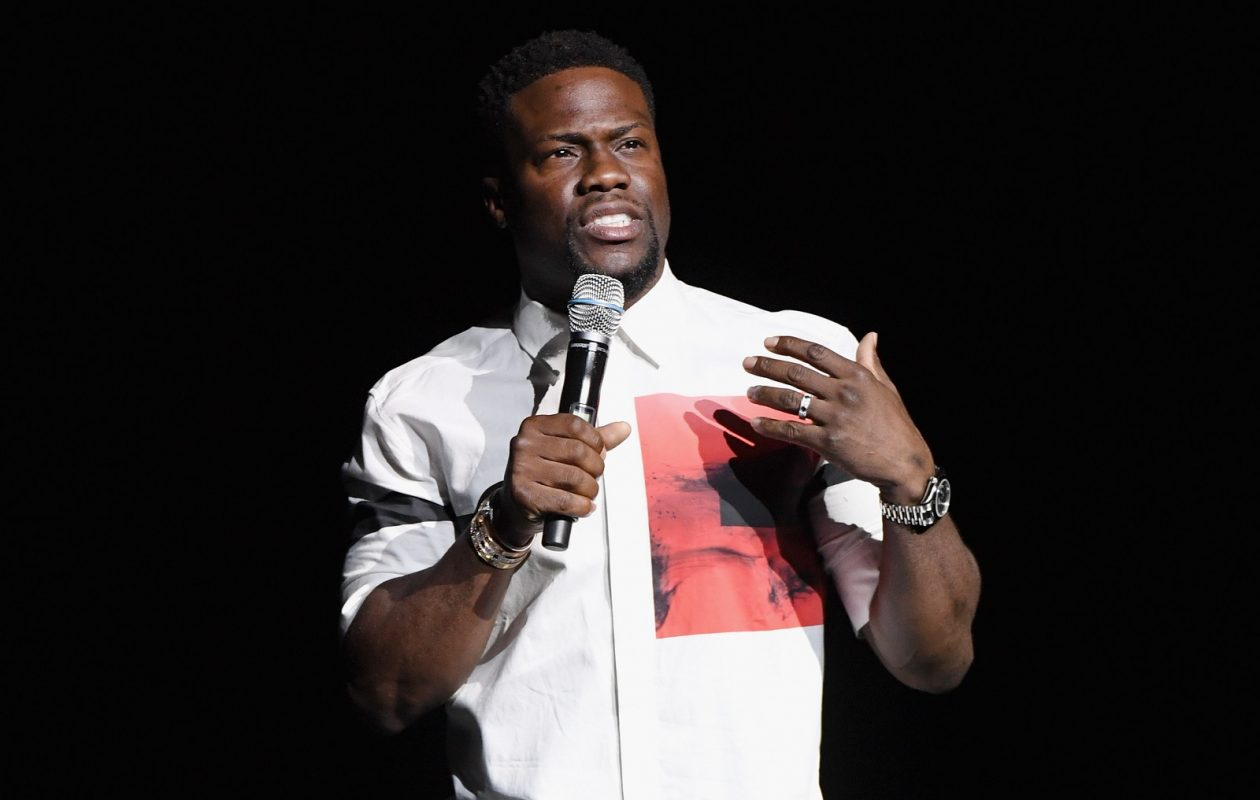Kevin Hart, pictured speaking at CinemaCon 2018 in Las Vegas, Nev., comes to Buffalo on Sunday. (Ethan Miller/Getty Images for CinemaCon)