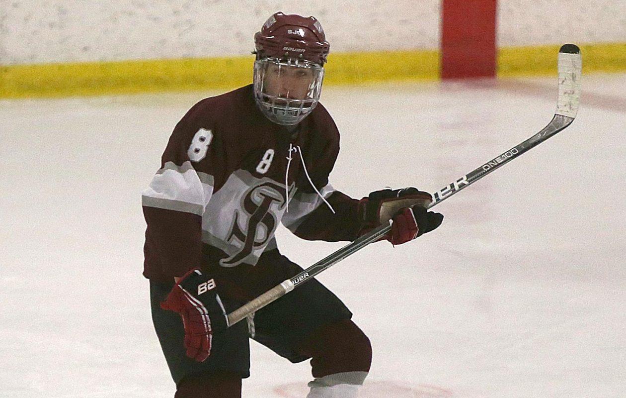 Dennis Gilbert, then a St. Joe's Marauders, skates in a game on, Thursday, Dec. 13, 2012. {Photo by Robert Kirkham / Buffalo News}