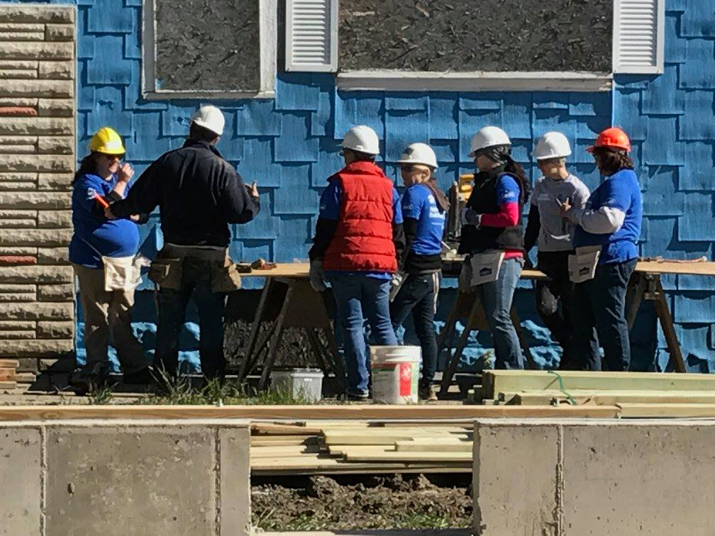 Volunteers get some training and assistance during the Habitat for Humanity Women Build Week in May 2017. (Provided by Habitat for Humanity.)