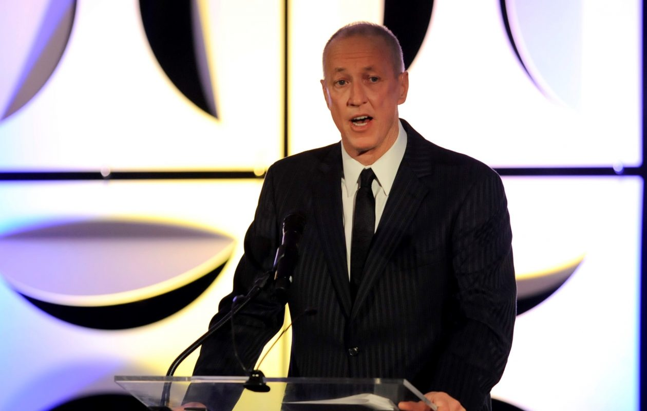 Jim Kelly speaks at the Vince Lombardi Cancer Foundation's Award of Excellence Dinner Ball in March in Milwaukee. (Gregory Shaver/Special to The News)