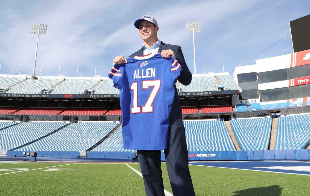 New Bills quarterback Josh Allen will get an opportunity to win the starting job, according to GM Brandon Beane. (James P. McCoy/Buffalo News)
