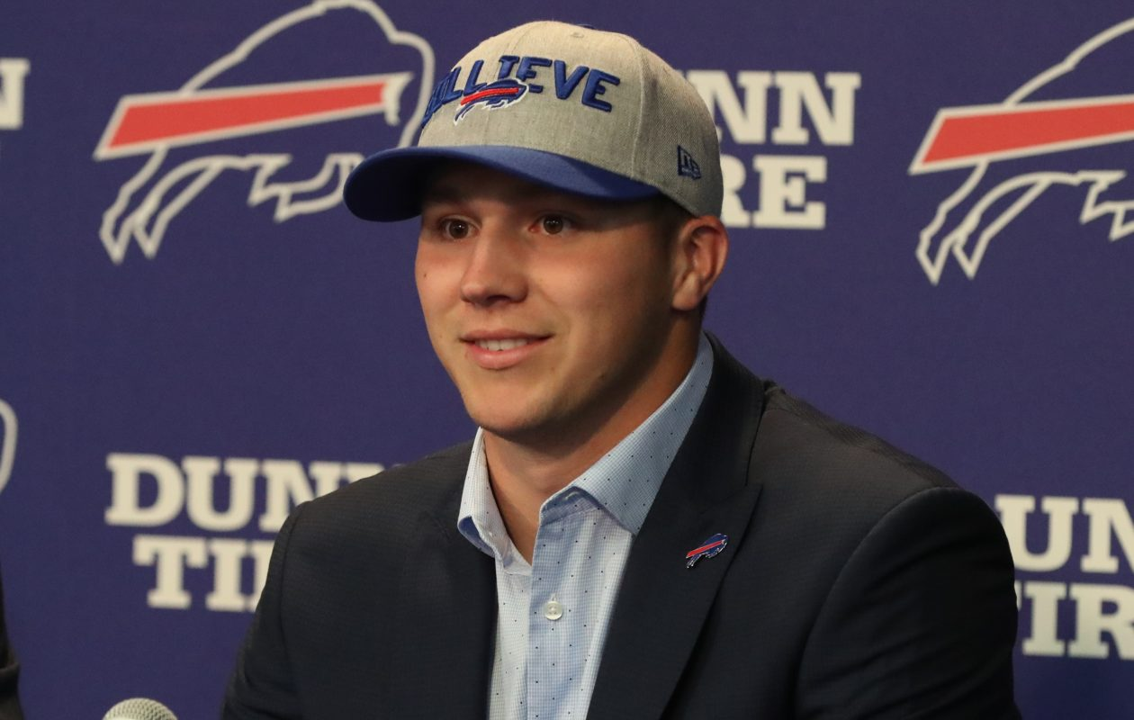 Could Josh Allen start at quarterback for the Bills?  (James P. McCoy/Buffalo News)