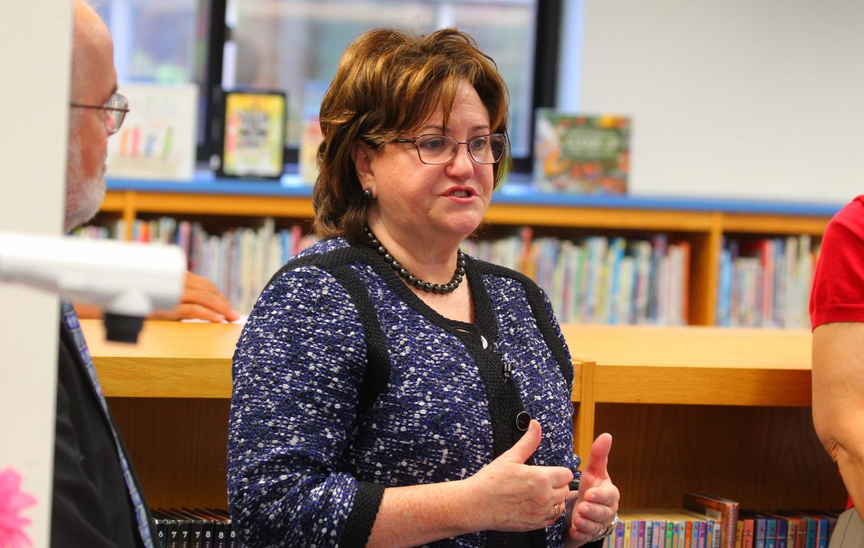 New York State Education Commissioner MaryEllen Elia says the state's standardized tests should be more easily comparable in the coming years. Test results released last week show that students continue to underperform. (John Hickey/Buffalo News)