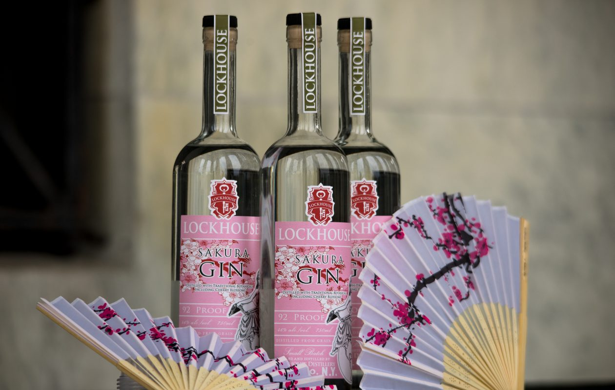 Sakura Gin is a limited release gin from Lockhouse Distillery. (Photo by Greg Lelonek)