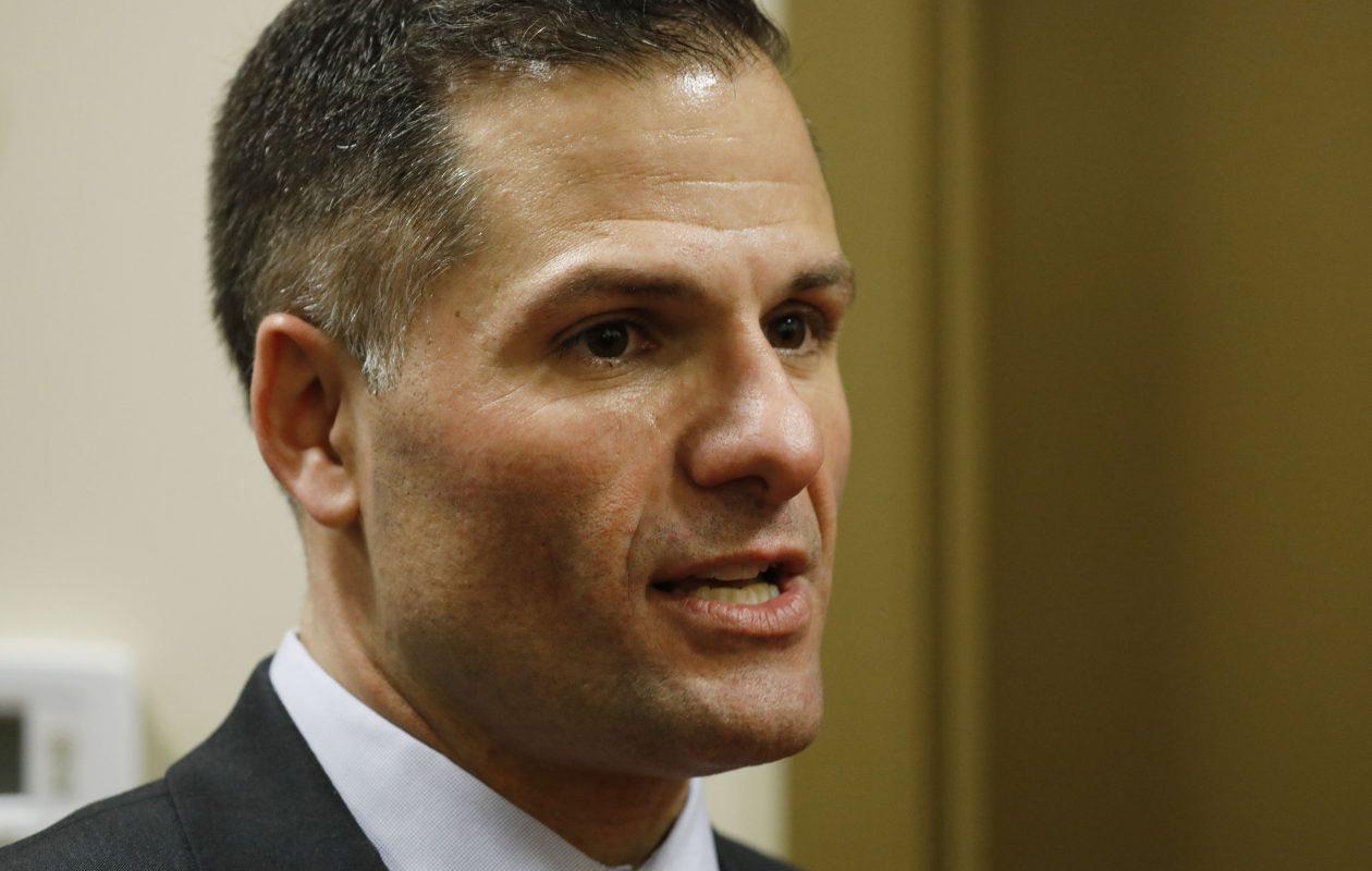 Republican Marc Molinaro appeared in Cheektowaga Tuesday night. (Derek Gee/Buffalo News)