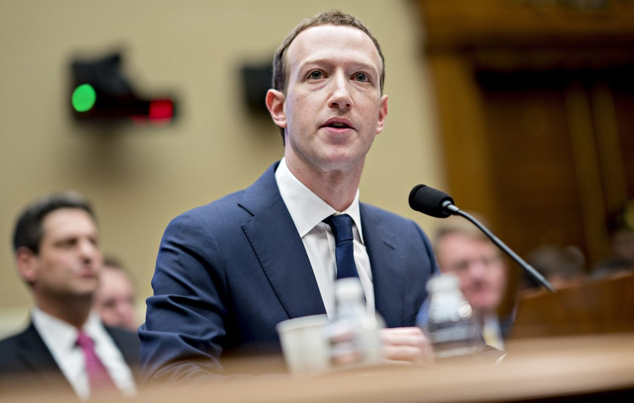 Facebook's Mark Zuckerberg speaks Wednesday during a House hearing. (Bloomberg photo by Andrew Harrer)