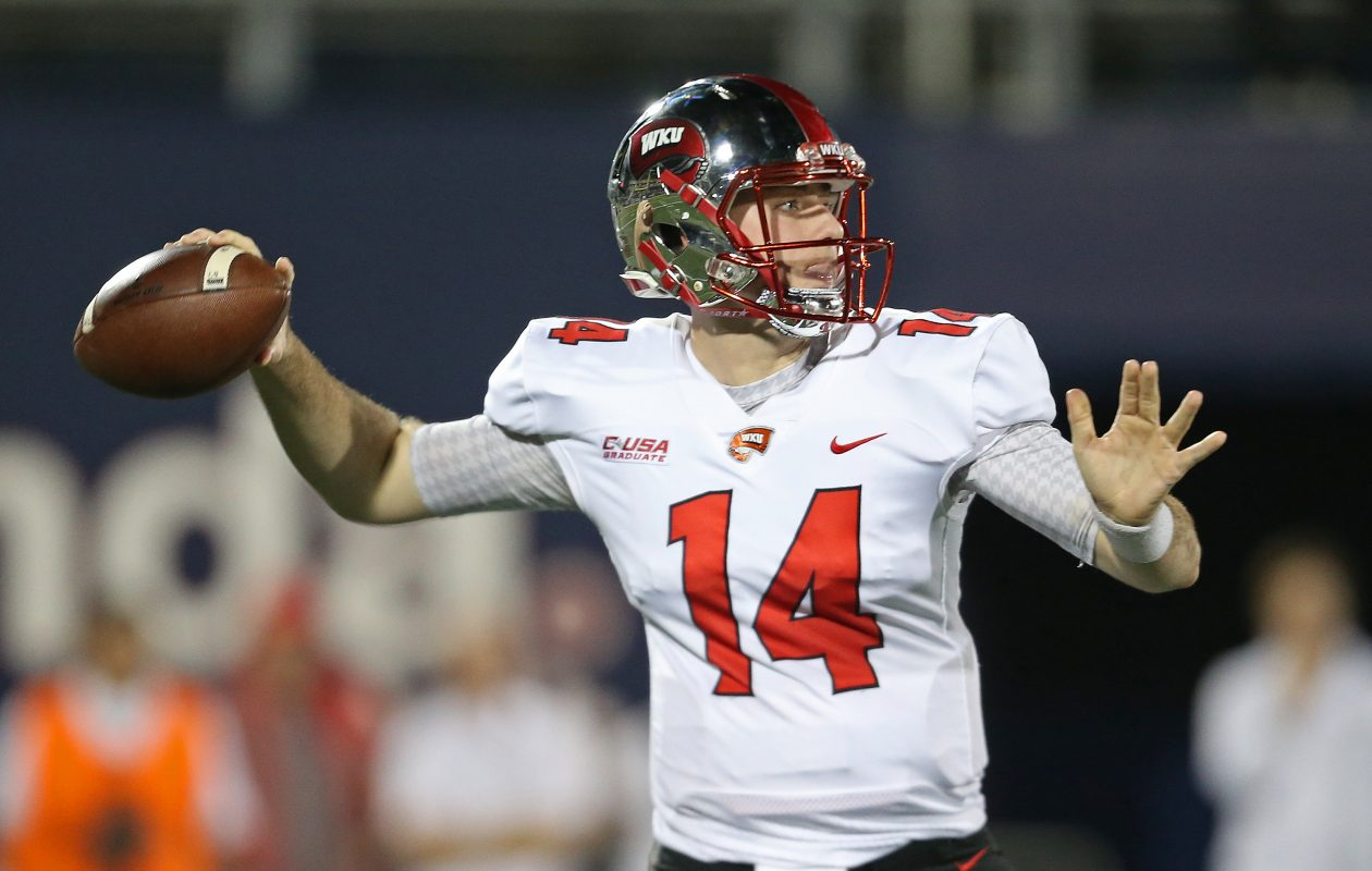 Mike White, from Western Kentucky, is one of the so-called non-elite quarterbacks in this year's NFL Draft. (Getty Images)