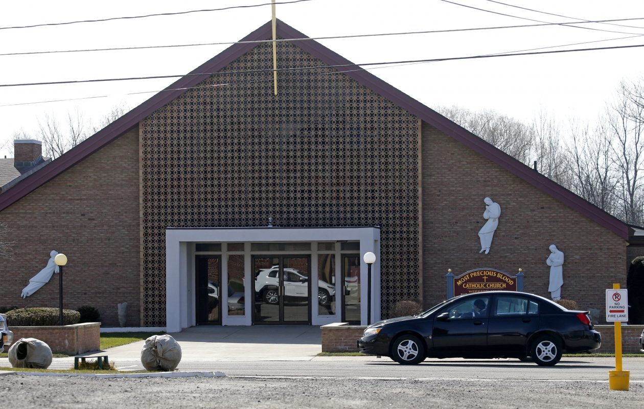 Most Precious Blood Church in Angola had four Catholic priests assigned there who were later accused of molesting children. The church's program to compensate victims is shrouded in secrecy. (Robert Kirkham/Buffalo News)
