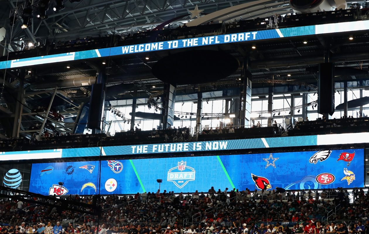 A general view of AT&T Stadium prior to the first round of the 2018 NFL Draft on April 26, 2018, in Arlington, Texas. (Ronald Martinez/Getty Images)