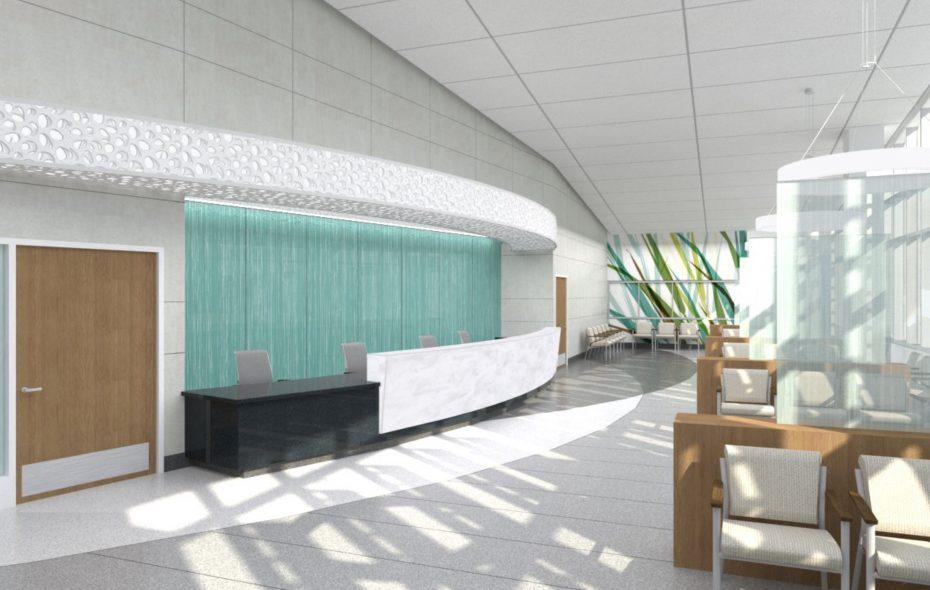 Artist's interior rendering of expanded ECMC emergency department.