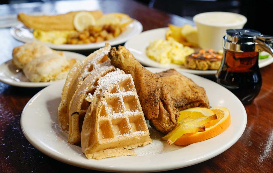 Chicken and Waffles, like this version at The Oakk Room, is a soul food tradition. (Dave Jarosz)