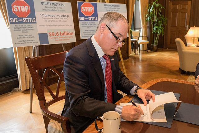 EPA administrator Scott Pruitt's attempt to undo environmental regulations has resulted in a string of lawsuits. (Environmental Protection Agency photo)