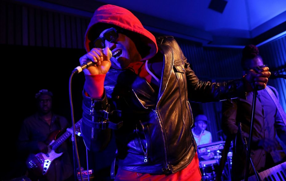 Q-Tip of A Tribe Called Quest - seen here performing with members of the Robert Glasper Experiment -  has been a major player in the jazz-rap movement. (Photo by Jesse Grant/Getty Images)