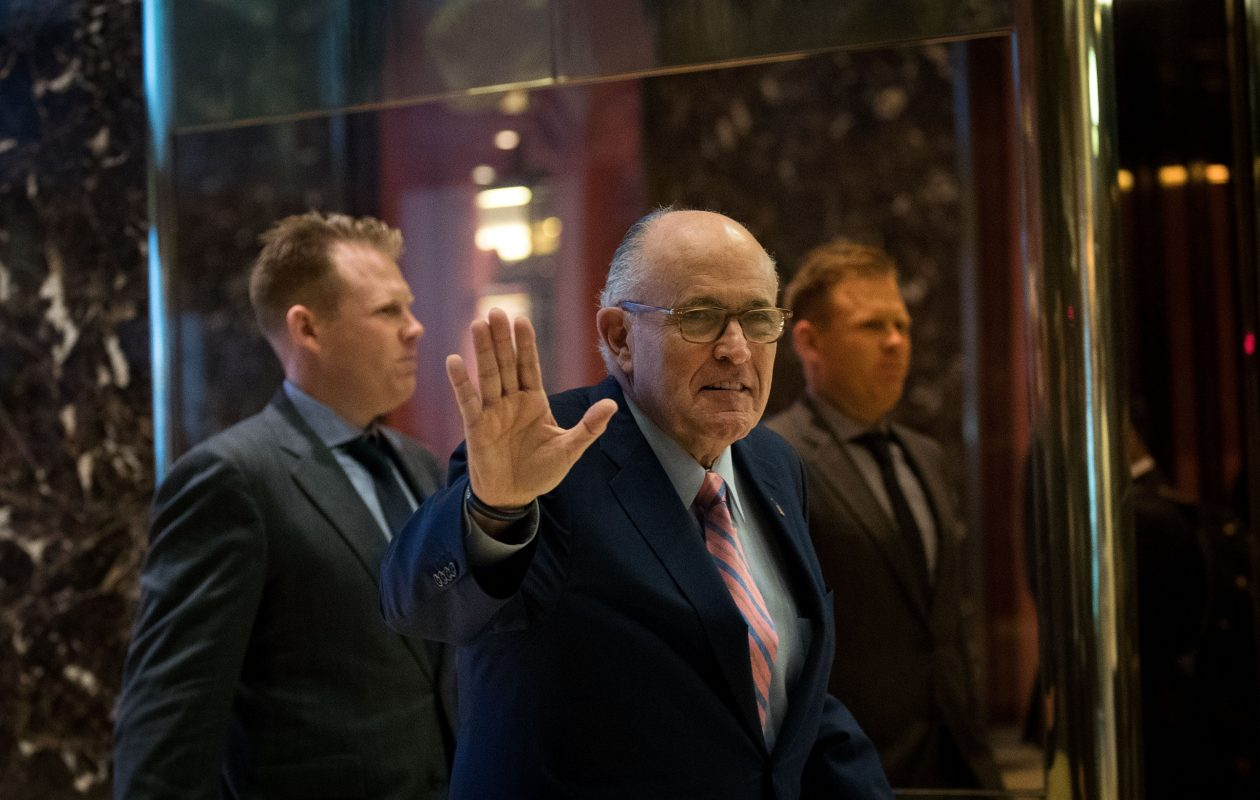 Former New York City mayor Rudy Giuliani. (Getty Images)