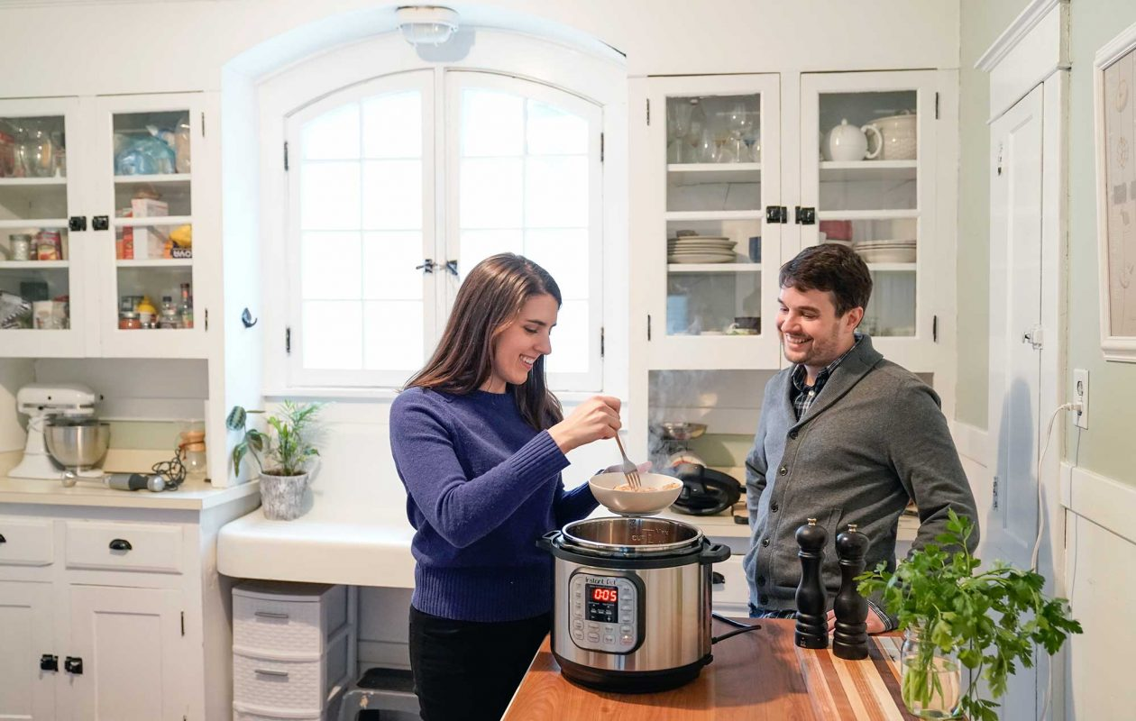 The hottest new gadget to hit kitchens may just be the Instant Pot; users like Sarah Machajewski of Buffalo count on its speed, efficiency and tasty results. (Dave Jarosz)