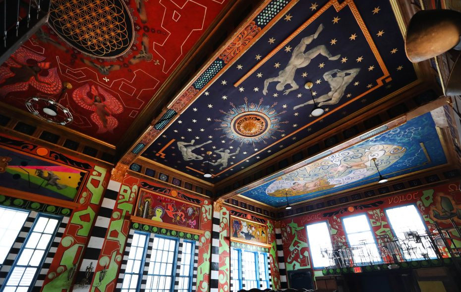 The Tabernacle, painted by Buffalo artist Jeremy Twiss, is slated to open to the public in the next several weeks. (Sharon Cantillon/Buffalo News)