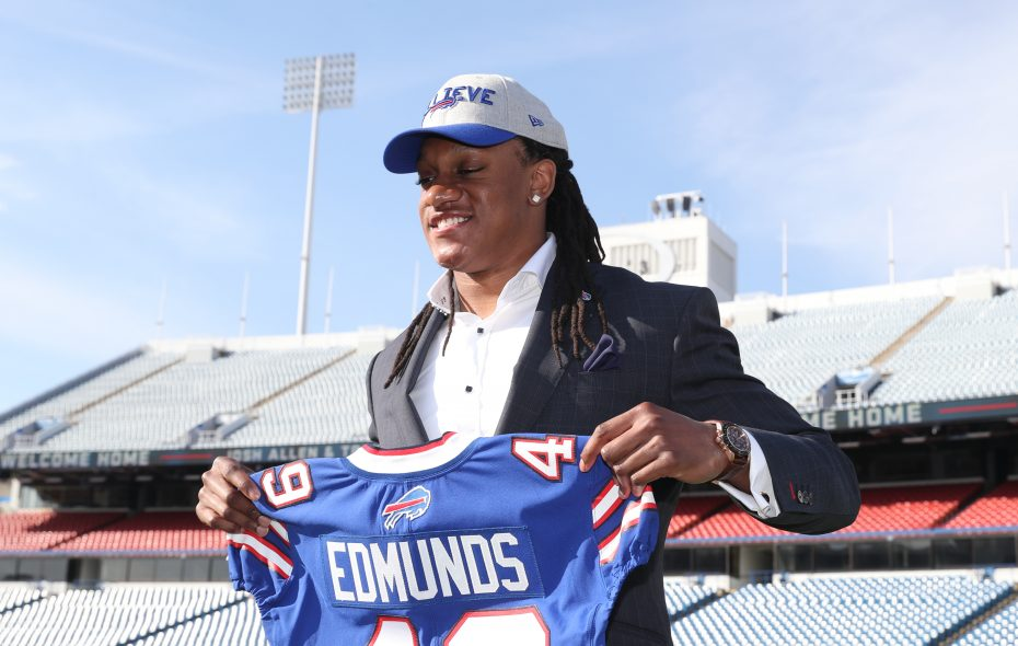 Bills linebacker Tremaine Edmunds has started 12 of 13 games as a rookie. (James P. McCoy/Buffalo News)