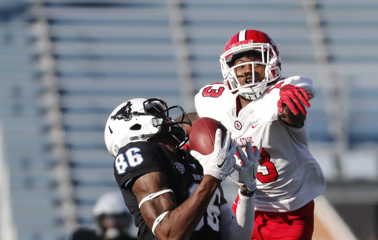 University at Buffalo receiver Kamathi Hosley (Harry Scull Jr./Buffalo News file photo)