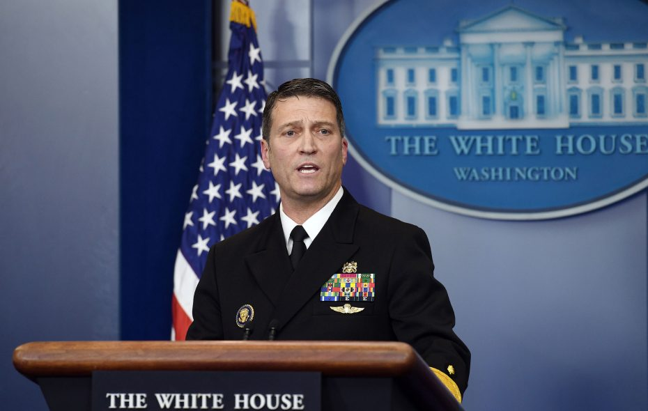 Presidential physician Dr. Ronny Jackson has withdrawn from consideration as nominee to be secretary Veterans Affairs.  (Olivier Douliery/Abaca Press/TNS)